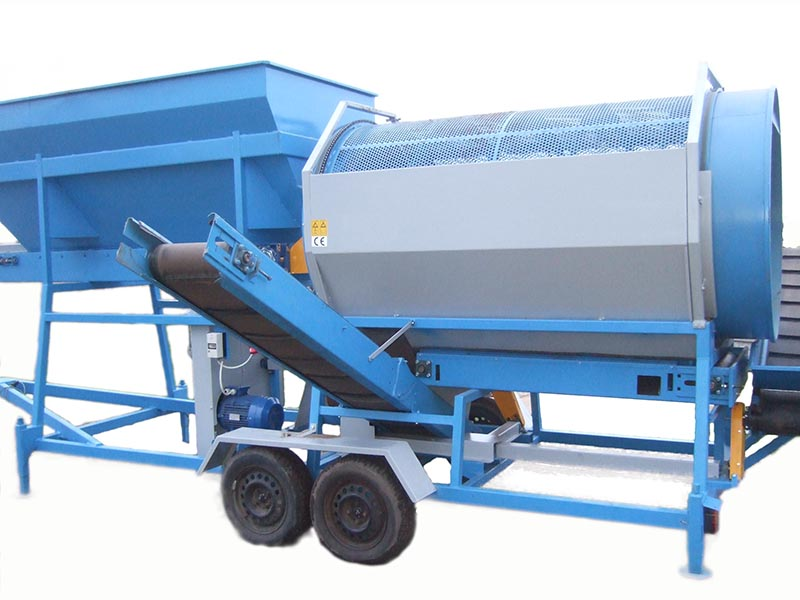 PORTABLE TROMMEL DRUM SCREENER