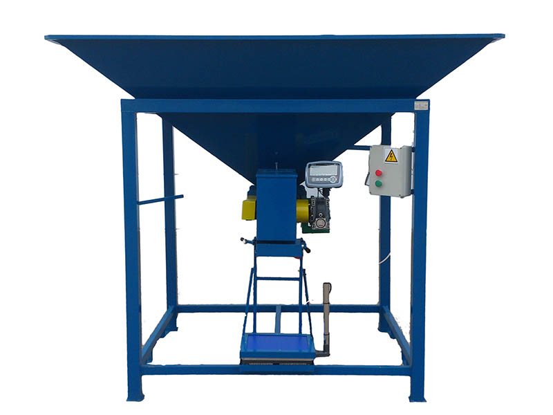 BAGGING MACHINE FOR OPEN MOUTH BAGS, PRODUCTIVITY 3-4 TON/H